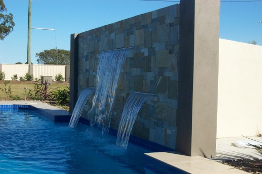 Lifestyle Solutions Centre Pool water feature